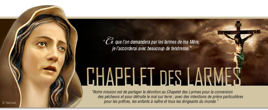 CHAPELET DES LARMES DE SANG libère les possessions diaboliques! TearLove_FR_header